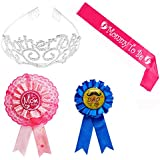 Mother To Be Tiara Hearts Crown + Mom To Be Sash + Mom...