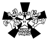 rom to room fan - Super Mario Brothers Wall Decals for Fan of Mario and Luigi Games such as Super Mario 64 Guide, Super Mario 63, Super Mario Galaxy 2 Guide, and even the Super Mario 64 ROM. - YELLOW