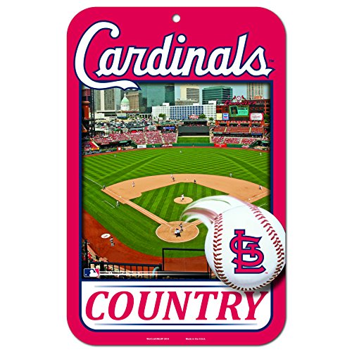 11X17 Country Plastic Street Sign MLB St. Louis Cardinals