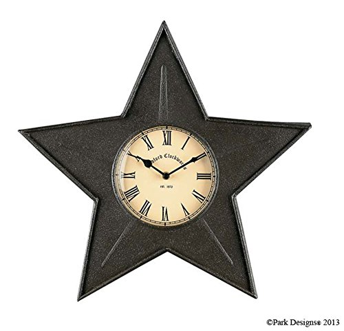 Park Designs Black Star Kitchen Wall Clock