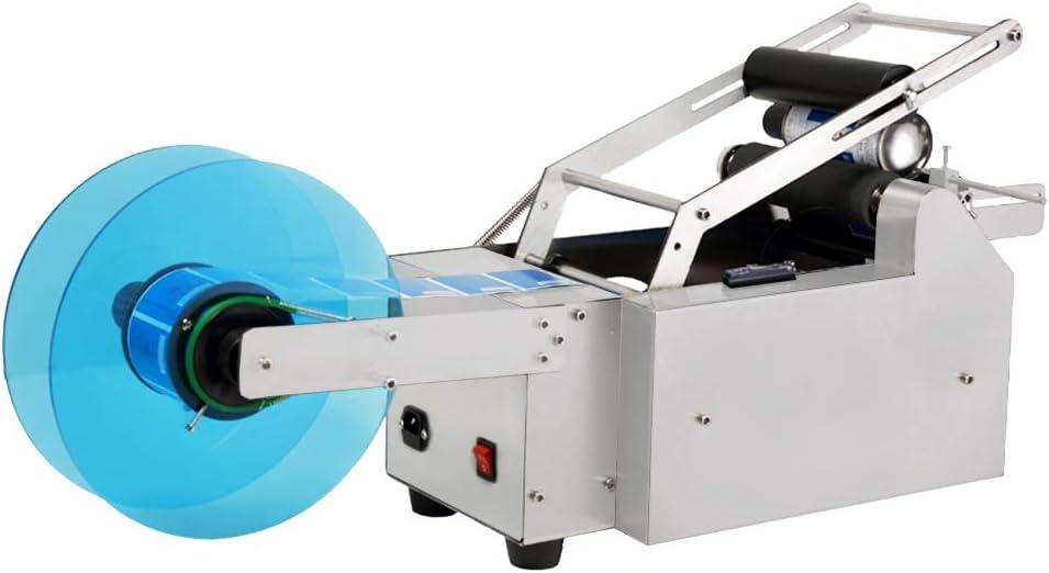 ECO-WORTHY Máquina de etiquetado de la Botella Redonda semiautomática del etiquetador Aplicador de la Prensa del Semi automático para la Cerveza, Las Botellas de Cristal, Puede empaquetar