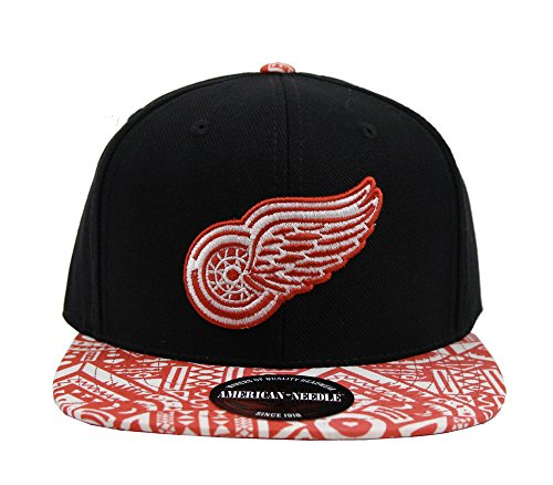 Detroit Red Wings NHL American Needle Forefront Fabric Printed Visor Adjustable - Girl Mlb Cap Adjustable Youth
