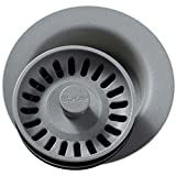 Elkay LKQD35GS Greystone Polymer Disposer Flange with Removable Basket Strainer and Rubber Stopper