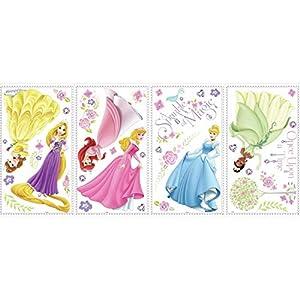 RoomMates Disney Princess Glow Princess Peel and Stick Wall Decals – RMK1903SCS