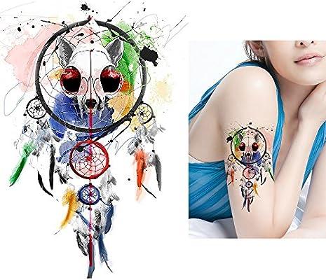 Atrapasueños Tattoo Colores Fake Tattoo joyas Tattoo para pegar ...