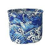 Sujing Laundry Basket Canvas Laundry Hamper Storage Bucket Hamper Storage Basket (blue)