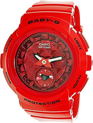 Casio Women's Baby G BGA195M-4A Red Rubber Quartz Sport Watch