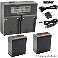 Kastar LCD Dual Smart Fast Charger & 2 x Battery for Sony BP-U60, BPU60, BP-U66 and PMW-100, PMW-150, PMW-160, PMW-200, PMW-300, PMW-EX1, EX3, PMW-EX160, PMW-EX260, PMW-EX280, PMW-F3, PXW-FS5, PXW-FS7