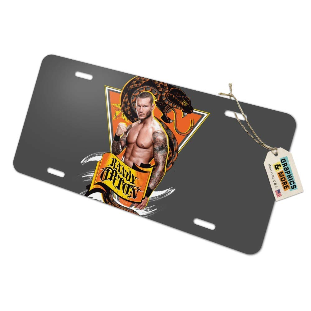 Graphics and More WWE Randy Orton Triangle Novelty Metal Vanity Tag License Plate