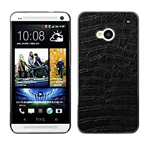 Stuss Case / Funda Carcasa protectora - Black Pattern Texture Textile Surface - HTC One M7
