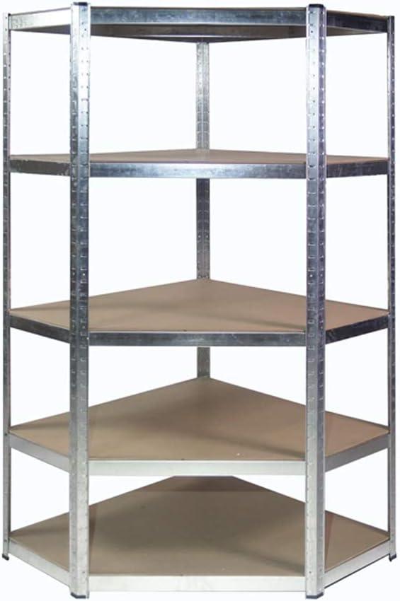 Scaffalatura angolare resistente zincata 1800 mm H x 900 mm 698 mm L x 400 mm P 175 kg UDL con 2 x rack