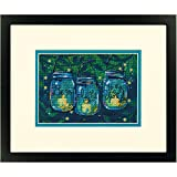 """Dimensions Counted Cross Stitch Kit  for Beginners, 'Be a Light', 14 Count Navy Aida, 7"""" x 5"""""""