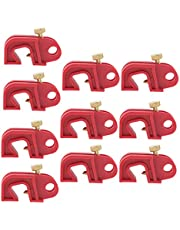 10PCS Universal Circuit Breaker Lockout Red with Twisted Screw, Locks Out All Miniature ISO/DIN Circuit Breakers Throughout The World