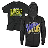 NFL Men's Full Zip Fleece Hoodie and T-Shirt Combo Pack