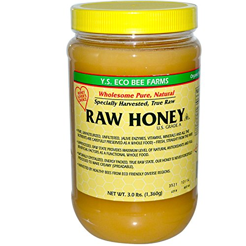YS Eco Bee Farms RAW HONEY - Raw, Unfiltered, Unpasteurized - Kosher 3lbs (Valley Honey Champlain)