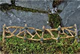 Fiddlehead Fairy Village Woodland Twig Fence Section with Bonus Novelty Fairies Bill and 3