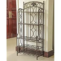 International Caravan Mandalay 5 Tier Bakers Rack in Matte Brown