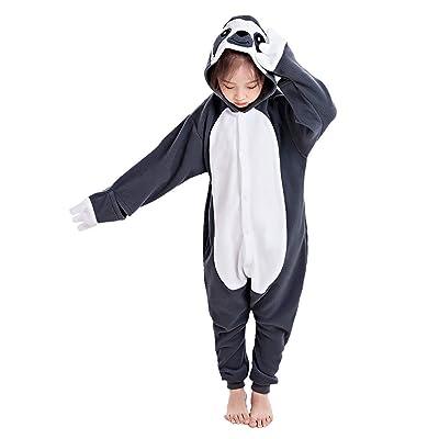 CANASOUR Polyster Halloween Animal Kid Sloth Costume Cosplay Pajamas: Clothing