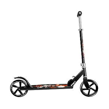 Patinetes Kick Scooter Plegable para Adultos con Ruedas Grandes - Ligera Scooter de Altura Ajustable con Freno de Guardabarros Trasero, Capacidad de 220 LB, ...