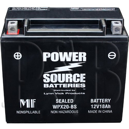 YTX20H-BS, YTX20H, YTX20-BS, YTX20, GYZ20H, 0745-047, 0645-480, 0645-170 Replacement Battery 375cca High Performance WPX20-BS Sealed AGM for Arctic Cat, Honda, Motorcycle, ATV, Snowmobile Arctic Cat Snowmobile Battery
