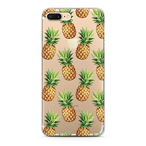 Lex Altern Pineapple Case Xs Max iPhone X 8 Plus 7 6s 6 SE 5s 5 TPU Clear Pattern Silicone Apple Phone Cute Cover Fruit Kawaii Print Tropical Lightweight Flexible -