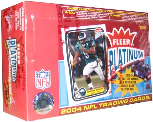 2004 Fleer Platinum Football HOBBY Box - (Platinum Hobby Box)