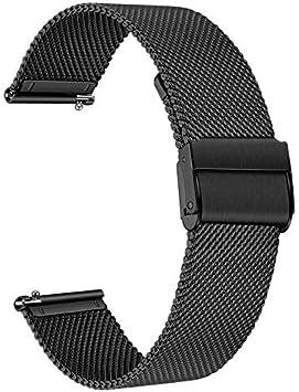 TRUMiRR Reemplazo para Samsung Galaxy Watch 46mm/Gear S3 Frontier/Gear S3 Classic Correa de Reloj, 22mm Correa de Acero Inoxidable Correa de liberación rápida para Huawei Watch GT/Watch GT 2 46mm
