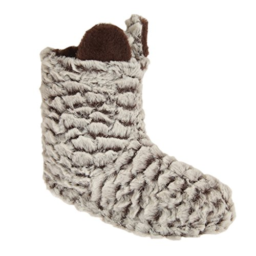 Donna Severyn marrone In A Pantofole Stivaletto Bianco Pile 7zHqafxw