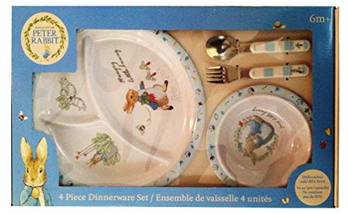 Beatrix Potter Peter Rabbit 4 Piece Dinnerware Set