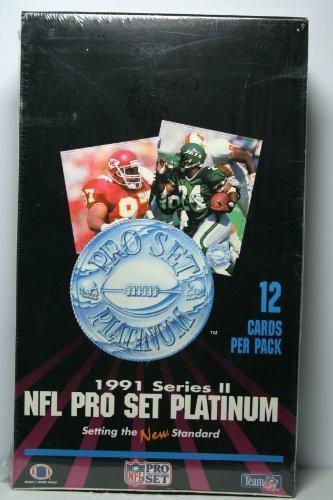 1991 Series II NFL Pro Set Platinum Sealed Box (36 packs of 12 cards)