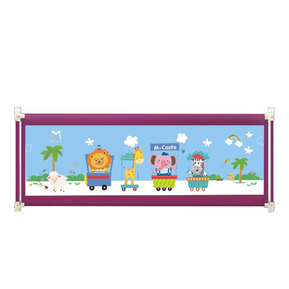 DD ベビー&マタニティ/ベビー布団寝具/ベッドガードフェンス, ベッドフェンス赤ちゃんドロップ/バリアー子供の垂直リフティング1.8-2メートルベッドサイドバッフル -子供を守る (色 : Purple-180cm)  Purple-180cm B07KFTDSBQ