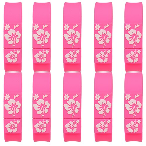 Uflatek 10 Pieces 1 GB Memory Stick Wristband Flash Drive Waterproof USB Drives Pink USB 2.0 Pendrive Bracelet Thumb Drives Data Storage for Computers PC and ()