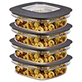 #9: Rubbermaid (8-Piece) 3-Cup Plastic Food Storage Container Set BPA-Free Airtight Lids Meal Prep Bowls