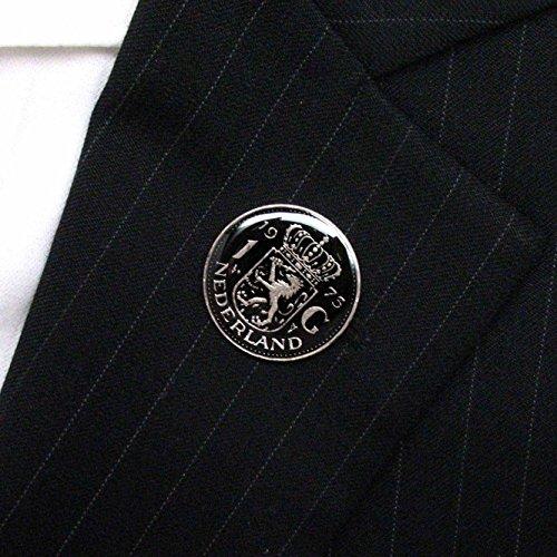 Netherlands Coin Tie Tack Lapel Pin Flag Nederland Dutch Holland Amsterdam Stropdas Reversspeldje juwelen by Marcos Villa (Image #1)