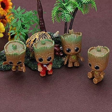 4 UNIDS Mini Groot Doll Llavero Juguetes para Niños ...