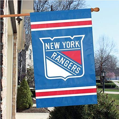 Party Animal Official Major League Baseball Fan Shop Authentic MLB Team Sports Man Cave Flag - Banner (New York Rangers)