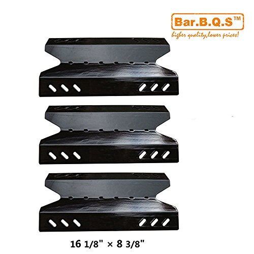 Bar.b.q.s Grill Porcelain Steel Heat Plate 96431(3-pack) for Select Gas Grill Models By BBQ Pro, Kenmore and Others