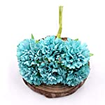 Fly-Town-Marigold-6pcsBunch-35cm-Mini-Daisy-Flower-Bouquet-Artificial-Flower-Wedding-Decoration-DIY-Craft-Home-Decoration-AccessoriesBlue