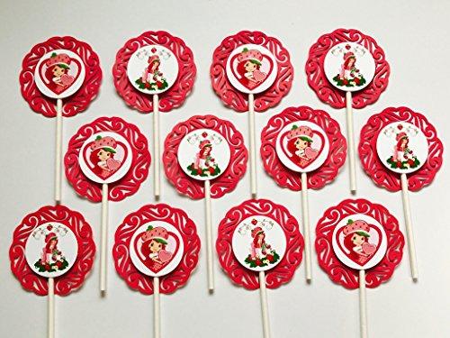 12 STRAWBERRY SHORTCAKE Cupcake Topper - Party Picks - Disney (2.5