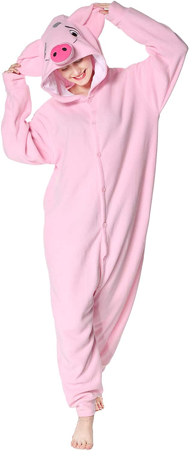 WOTOGOLD Animal Cosplay Costume Pig Unisex Adult Pajamas