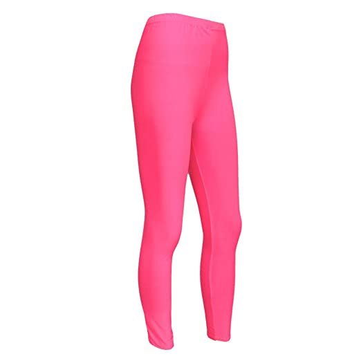 f8e7984d3 Amazon.com  Girls Kids Neon Lycra Fluorescent Dance Casual Footless ...