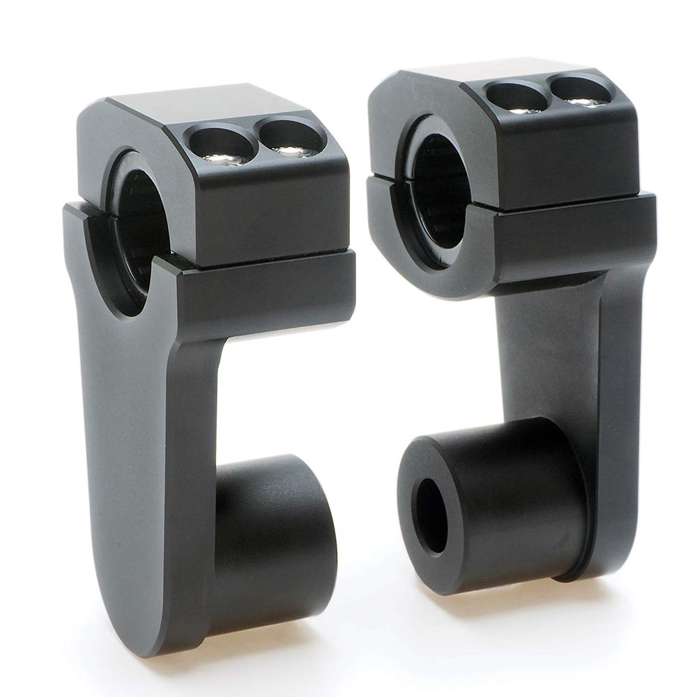 Pivoting Handlebar Clamp Risers - APE Racing Universal Motorcycle 2'' Raise Clamps For 7/8'' or 1 1/8'' Handlebars Mount To oversize 1 1/8'' Stem Clamp