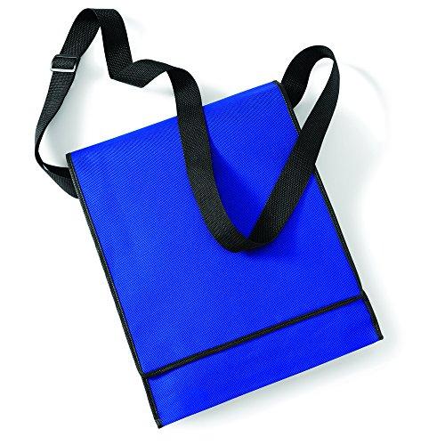 BagBase presupuesto Vertical Messenger Bag Azul - Royal/ Black