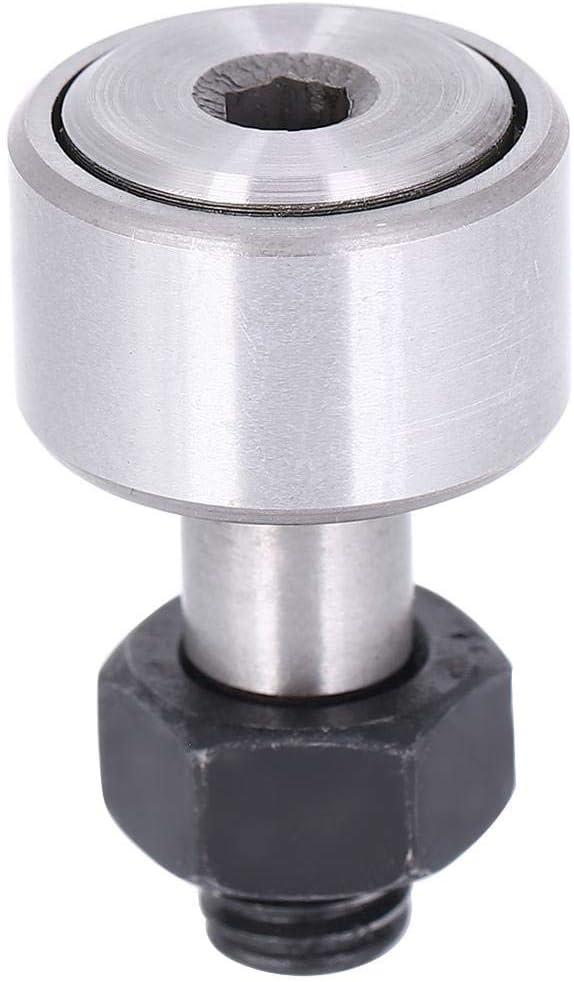 0.7in 2pcs KR19//CF8 Needle Roller Bearing Stud Bearing Steel Cam Follower Tool Single Row 19mm