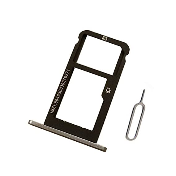 Black Sim Card & Micro SD Card Tray Holder Slot replacement For ZTE Blade Z Max Z982/ZMax Pro 2/Sequoia 6.0