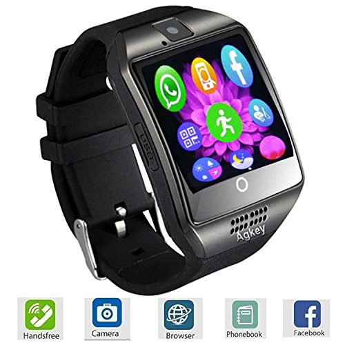 Smart Watch Touch Screen All-in-1 Bluetooth Smartwatch WristWatch and Unlocked Watch Cell Phone with Camera Supports SIM Card Slot for Women Men Boys Android Smartphones