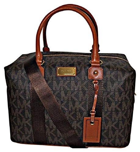 Michael Kors Jet Set Travel Signature Large Weekender/ Carry On Bag (Brown) ()