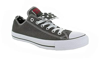 589689c25811 Image Unavailable. Image not available for. Color  Converse Chuck Taylor  WOMEN S All Star Grey double tongue ...