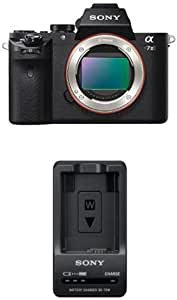 Sony Alpha a7II Interchangeable Digital Lens Camera - Body Only with BC-TRW W Series Battery Charger