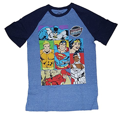 justice+league Products : DC Comics Justice League of America Blocks Graphic T-Shirt